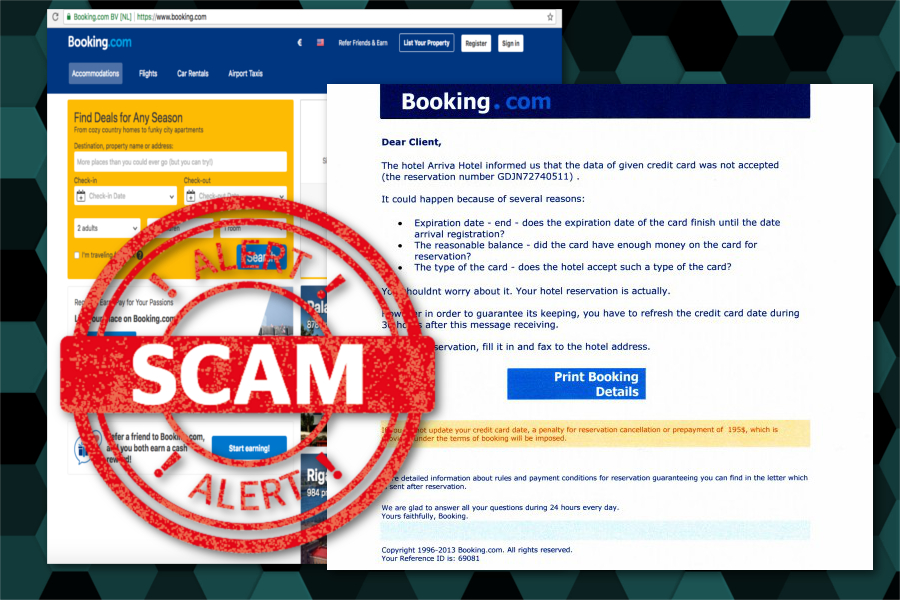 Booking.com scam targets travelers with phishing messages