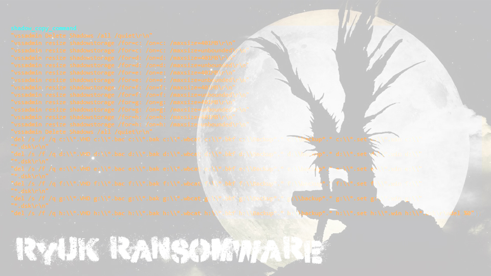 Ryuk ransomware: makes more than half a million in two weeks and is not going to stop snapshot