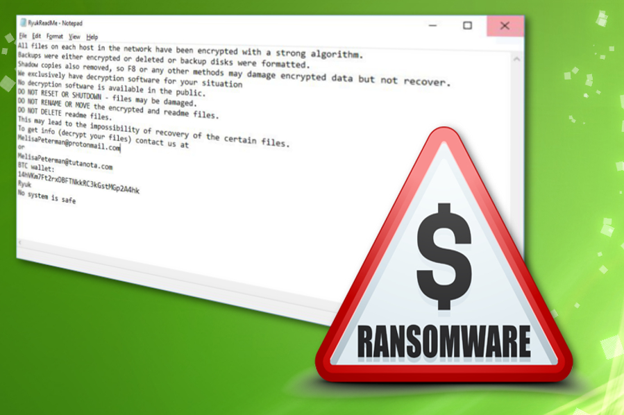 Ryuk ransomware: makes more than half a million in two weeks and is not going to stop