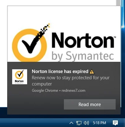 The page claims that some software pieces are outdated and promotes questionable installers