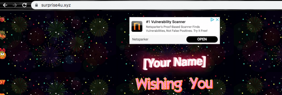 The questionable website drops a notification that offers to download some type of bogus vulnerability scanner