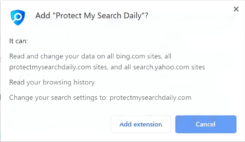 The site promotes and delivers extension that manages to change browser settings, hijack the search engine and collect data
