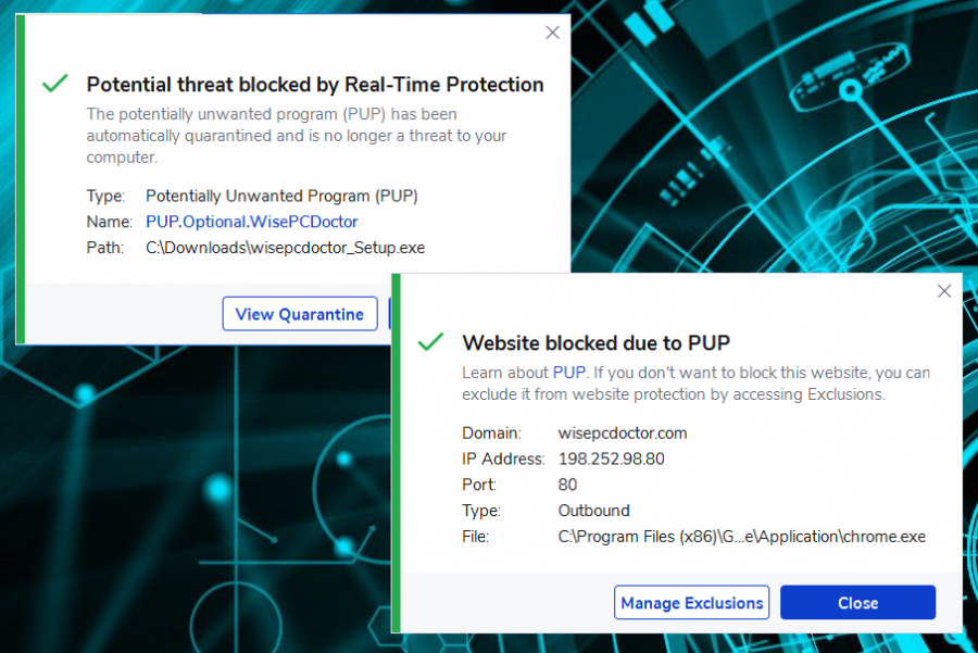 The site and the promoted tool are considered dangerous and included in the AV tool database
