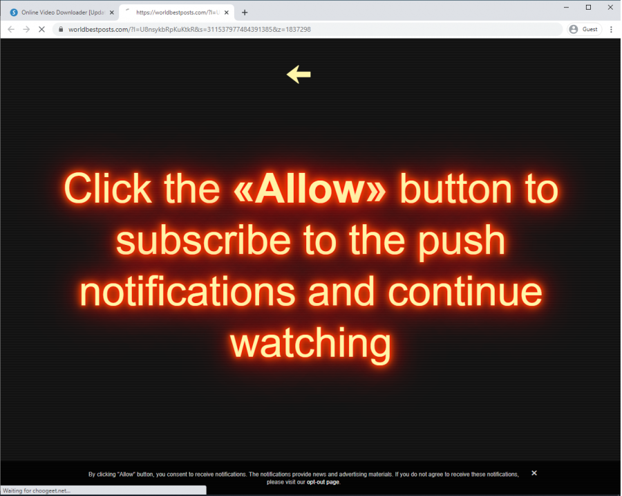 savethevideo.com redirects users to potentially malicious websites