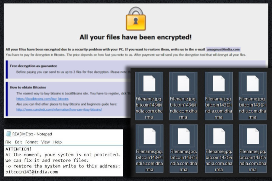 The bug may help to restore files encrypted by Dharma ransomware virus