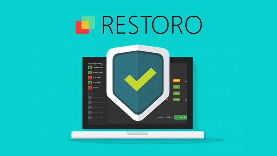 Restoro system repair tool helps people to avoid cyber infections snapshot