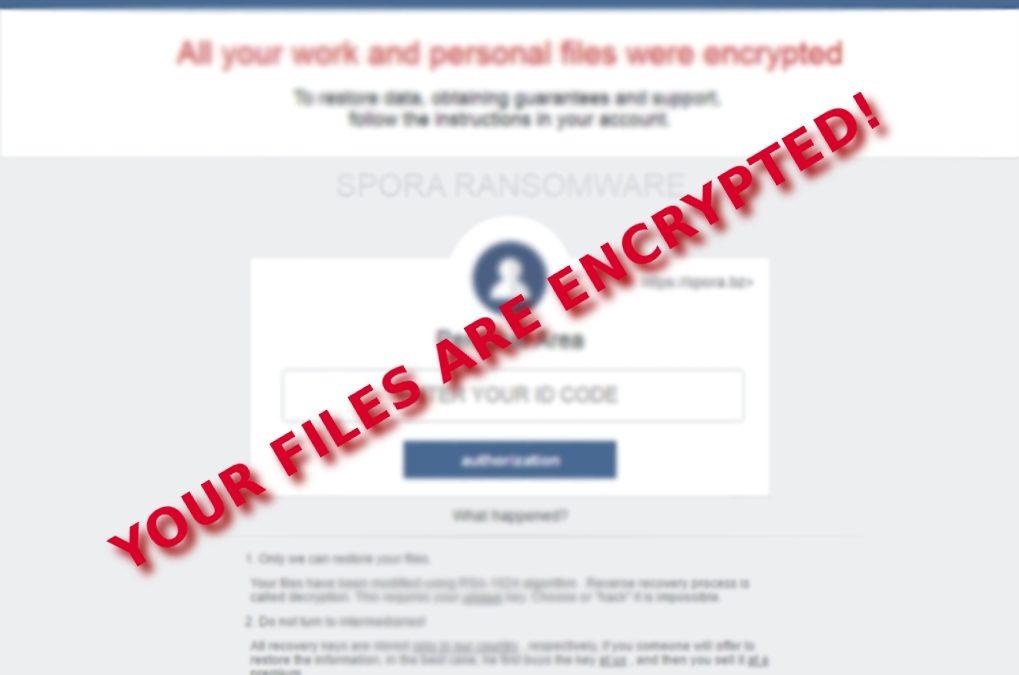 New facts regarding Spora ransomware