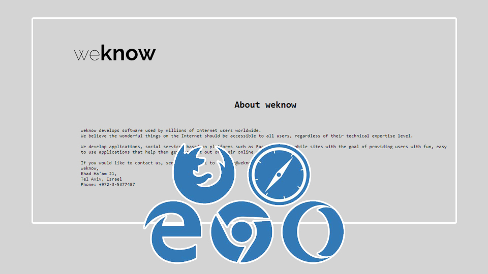 Weknow.ac: the browser hijacker that continually changes snapshot